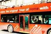 mass transport stock photography | Italy, Rome, Tour Bus, image id S4-502-4933
