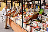 people stock photography | Italy, Rome, Book Stand, image id S4-502-5054