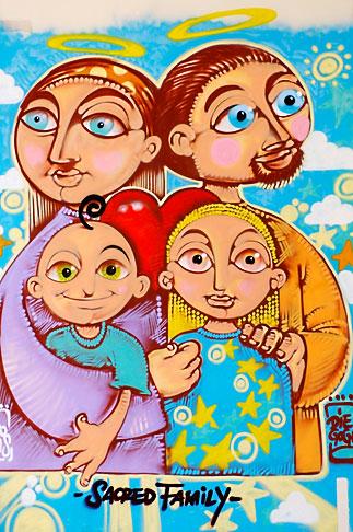 image S4-502-5104 Italy, Rome, Sacred Family Painting, Santa Maria in Trastevere