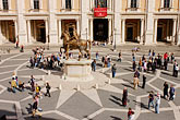 crowd stock photography | Italy, Rome, Piazza del Campidoglio, image id S4-503-5478