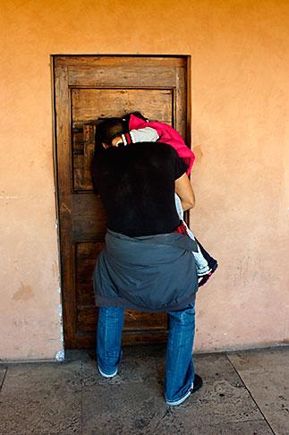 image S4-503-5693 Italy, Rome, Looking through door, Castel SantAngelo