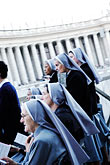 roman catholic stock photography | Vatican City, Nuns, Piazza San Pietro, image id S4-503-5801