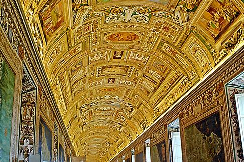 image S4-504-5877 Vatican City, Painted Cieling, Vatican Museum