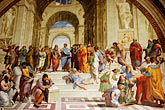 city walls stock photography | Vatican City, The School Of Athens, Raphael (1483-1520), image id S4-504-5894