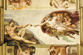 paint stock photography | Vatican City, Creation of Adam by Michelangelo, Sistine Chapel, image id S4-504-5901