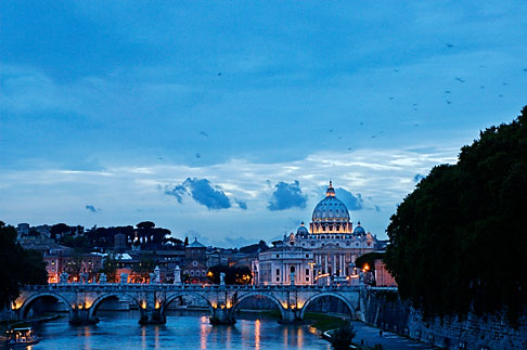 image S4-504-6146 Italy, Rome, Sunset over the Tiber
