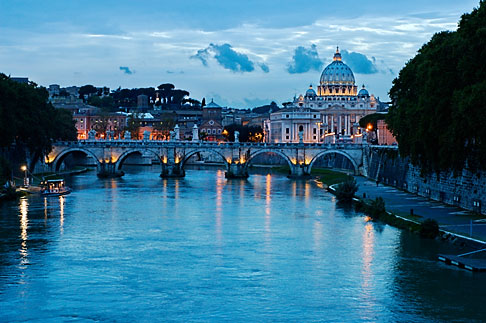 image S4-504-6147 Italy, Rome, Sunset over the Tiber