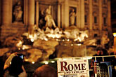 horizontal stock photography | Italy, Rome, Guide Book, Trevi Fountain, image id S4-504-6186