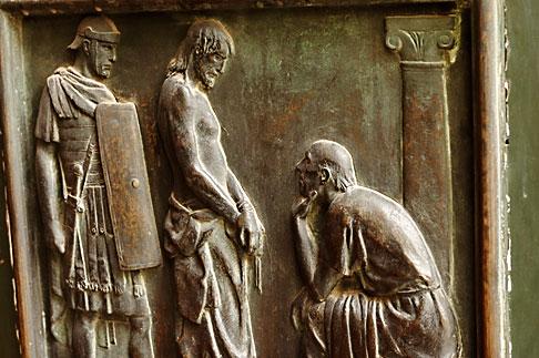 image S4-505-6326 Italy, Rome, Detail of Door, Santa Maria del Popolo