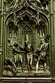 architecture stock photography | italy, Milan, Sculpted Door, Duomo, image id S4-510-6622