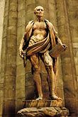 vertical stock photography | Italy, Milan, Statue of St. Jerome, Duomo, image id S4-510-6648