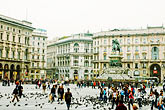 crowd stock photography | Italy, Milan, Piazza Del Duomo, image id S4-510-6685