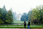 overlook stock photography | Italy, Milan, Couple looking at Parco Sempione, image id S4-510-6902