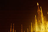 milan stock photography | Italy, Milan, Duomo at night, image id S4-510-7022