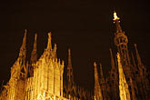 design stock photography | Italy, Milan, Duomo at night, image id S4-510-7030