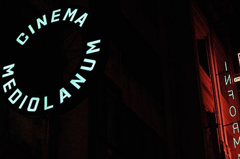 image S4-510-7050 Italy, Milan, Cinema Mediolanum sign