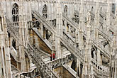 buttress stock photography | Italy, Milan, Duomo rooftop, image id S4-511-7151