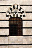stripe stock photography | Italy, Siena, Wall near Duomo, image id S4-520-7584
