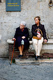 seat stock photography | Italy, Siena, Two women, image id S4-520-7714