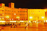 the plaza at night stock photography | Italy, SIena, Il Campo at night, image id S4-520-7816