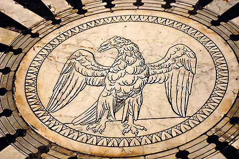 image S4-522-8505 Italy, Siena, Eagle, Marble Floor of Cathedral