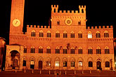 night stock photography | Italy, Siena, Palazzo Publico, image id S4-522-8610