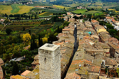 image S4-528-8823 Italy, San Gimignano, City view from Tower