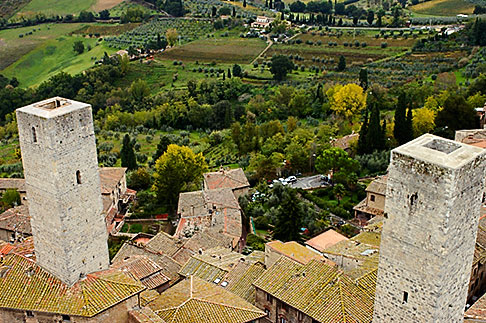 image S4-528-8826 Italy, San Gimignano, City view from Tower
