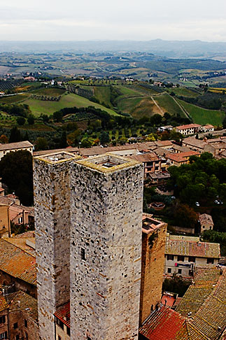 image S4-528-8866 Italy, San Gimignano, City view from Tower
