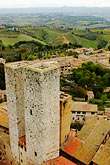 overlook stock photography | Italy, San Gimignano, City view from Tower, image id S4-528-8876