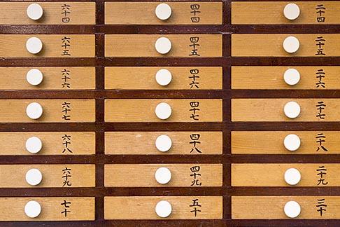 image 5-850-1791 Japan, Tokyo, Asakusa Temple, detail, drawers of prayers
