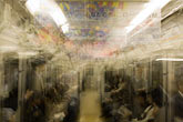 out of focus stock photography | Japan, Tokyo, Tokyo Subway, image id 5-850-1852
