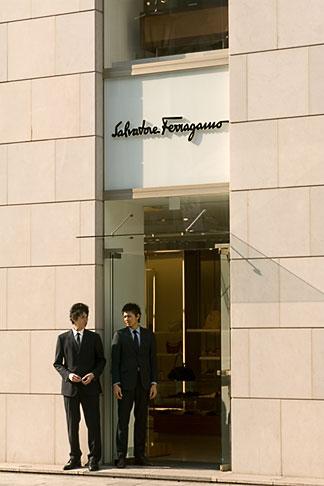 image 5-850-1909 Japan, Tokyo, Ferragamo shop, Ginza