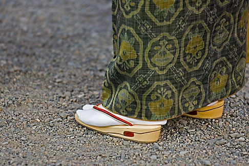 image 5-850-2011 Japan, Tokyo, Asakusa Kannon Temple, Woman in traditional shoes