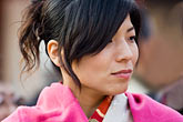 woman in traditional dress stock photography | Japan, Tokyo, Asakusa Kannon Temple, Woman in kimono, image id 5-850-2060