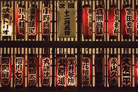image 5-850-2094 Japan, Tokyo, Restaurant red lanterns