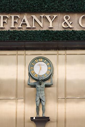 image 5-850-2639 Japan, Tokyo, TIffany and Company, clock