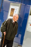 50plus stock photography | Japan, Tokyo, Old man on sidewalk, Ginza, image id 5-850-2657