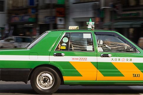 image 5-850-2691 Japan, Tokyo, Taxicab