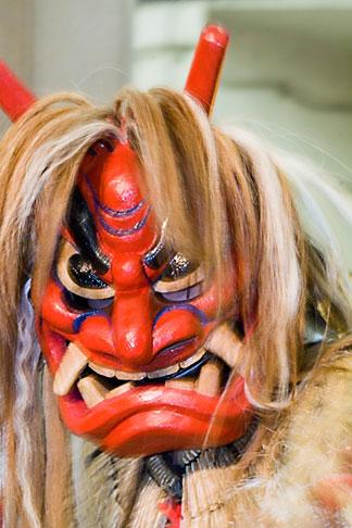 image 5-850-2827 Japan, Tokyo, Namahage folk dancer