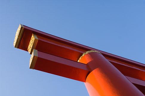 image 5-855-2376 Japan, Kyoto, Heian Shrine, Torii gate