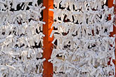 temple building detail stock photography | Japan, Kyoto, Heian Shrine, Paper prayers, image id 5-855-2545
