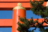 sky stock photography | Japan, Kyoto, Heian Shrine, Torii gate, image id 5-855-2573