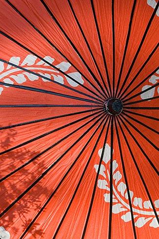 image 5-855-2579 Japan, Kyoto, Red parasol