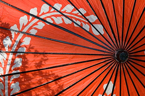 5-855-2581  stock photo of Japan, Kyoto, Red parasol