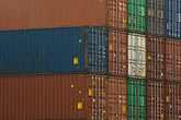 containers stacked on dock stock photography | Shipping, Containers stacked on dock, image id 7-675-3631