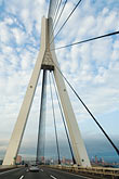 japan stock photography | Japan, Yokohama, Tsurumi Tsubasa Bridge, longest single plane cable stay bridge in the world, image id 7-675-4107
