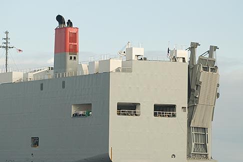 image 7-675-8491 Japan, Yokohama, Car Carrier in Yokohama harbor