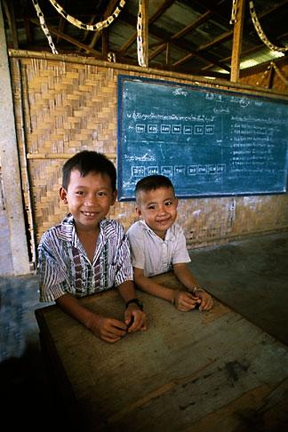 image 8-630-16 Laos, Vientiane Province, School, Hinh Heub village