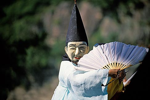 image 2-680-32 South Korea, Hahoe Village, Kwanno Mask Dance